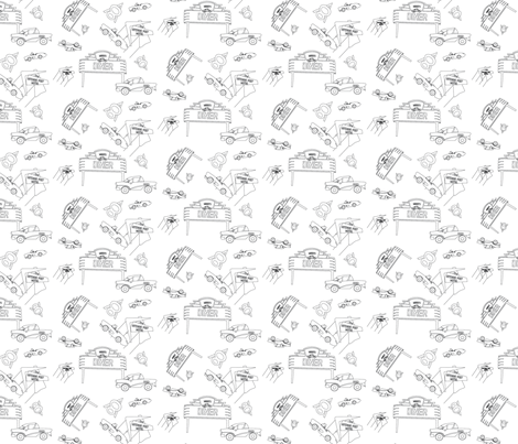 diner_movement_b_W fabric by mikkismotorworks on Spoonflower - custom fabric