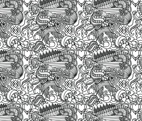 royale_bw fabric by syrina_designs on Spoonflower - custom fabric
