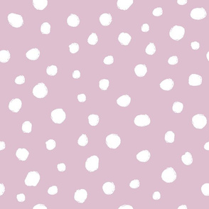 White dots on dusty rose / nursery baby kids simple design