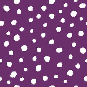 White dots on eggplant