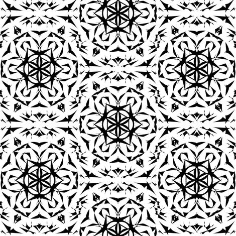 Magic Circle Dance in Moonlight fabric by rhondadesigns on Spoonflower - custom fabric