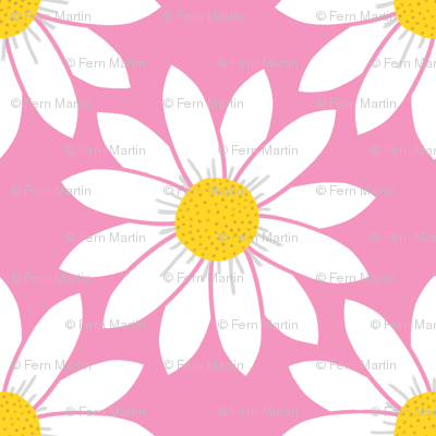 Daisies in Pink