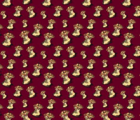 DarkRed Bitten Apple Acrylic  fabric by ad_lucem on Spoonflower - custom fabric