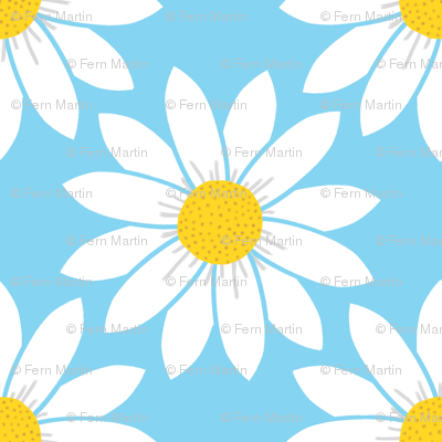 Daisies in Blue