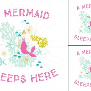 1 blanket + 2 loveys: pink maui a mermaid sleeps here blonde