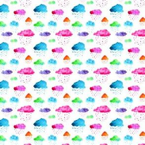 Watercolor clouds mini