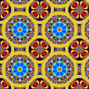 mandelbrot rainbow circle quilt