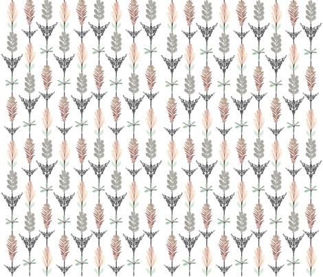 Flower Arrows fabric by mypetalpress on Spoonflower - custom fabric