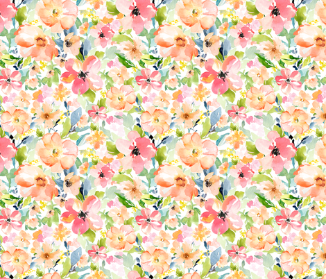 "18"" Floral Love Print fabric by shopcabin on Spoonflower - custom fabric"