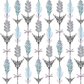 Flower arrows blue violet