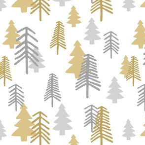 Silver and Gold Trees by autumnvdesigns