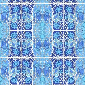 Flowery Nouveau Twisted Blues