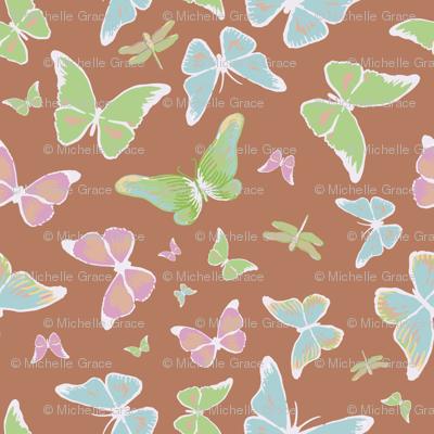 Butterflies, brown