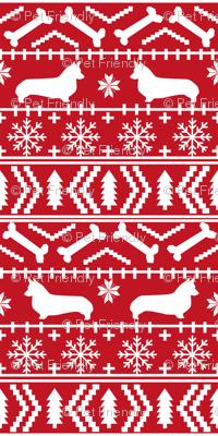 corgi christmas fabric corgi dogs fabric fair isle fabrics cute dogs fabric - smaller