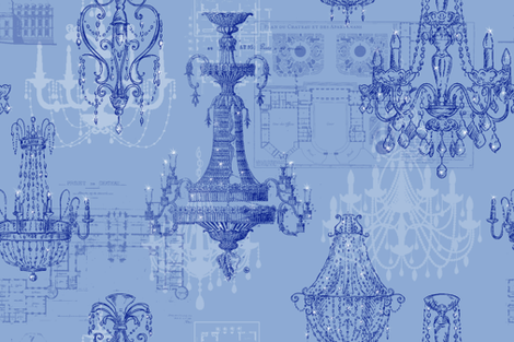 Chateau St Emilion ink fabric by lilyoake on Spoonflower - custom fabric