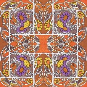Orange and Purple Squirm Trellis