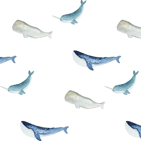 Whale Squad fabric by studio_salz on Spoonflower - custom fabric