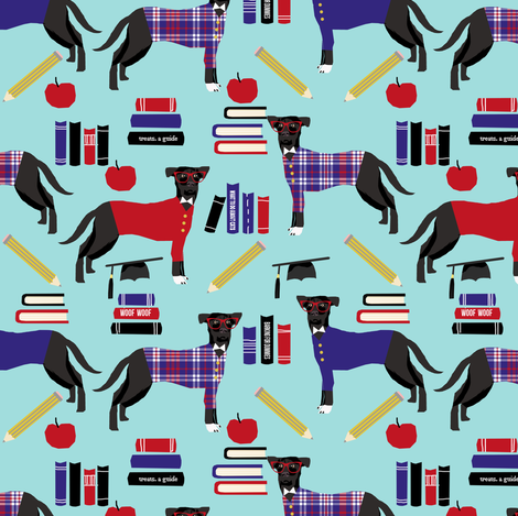 Dog teacher fabric fabric by petfriendly on Spoonflower - custom fabric