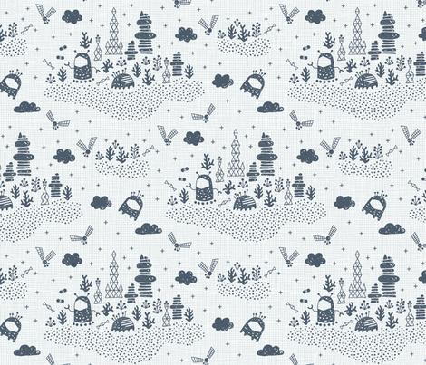 Living amongst aliens (light large) fabric by heleen_vd_thillart on Spoonflower - custom fabric