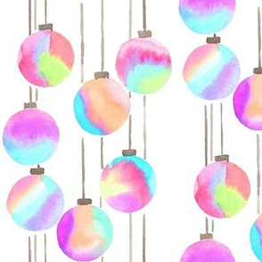iridescent ornaments