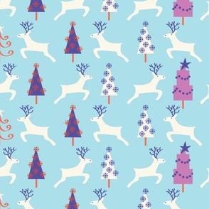 Holiday Reindeer, light_blue©Solvejg