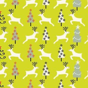 Holiday Reindeer, green©Solvejg