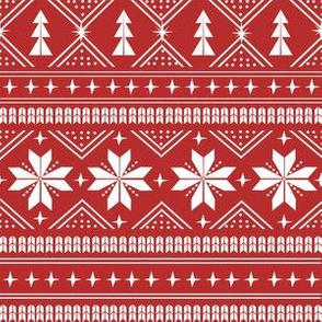 nordic christmas minimal sweater giftwrap holiday fabric red