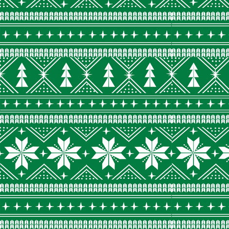 nordic christmas minimal sweater giftwrap holiday fabric green fabric by charlottewinter on Spoonflower - custom fabric