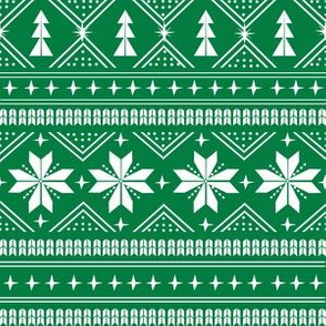 nordic christmas minimal sweater giftwrap holiday fabric green