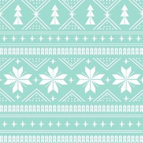 nordic christmas minimal sweater giftwrap holiday fabric icy blue