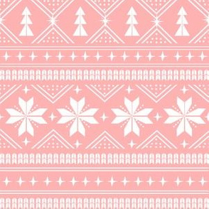 nordic christmas minimal sweater giftwrap holiday fabric pink