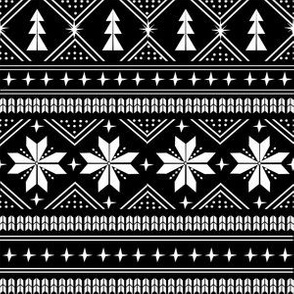 nordic christmas minimal sweater giftwrap holiday fabric black white