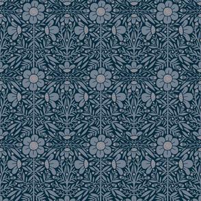 Folk Floral 01 | Blue