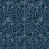 Folk Floral 01   Blue