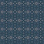 Folk Floral 02   Blue