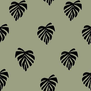 leaf // leaves tropical monstera plant palm springs vacation sage