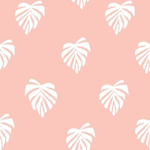 leaf // leaves tropical monstera plant palm springs vacation dusty pink