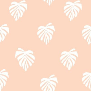 leaf // leaves tropical monstera plant palm springs vacation pastel pink
