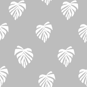 leaf // leaves tropical monstera plant palm springs vacation grey