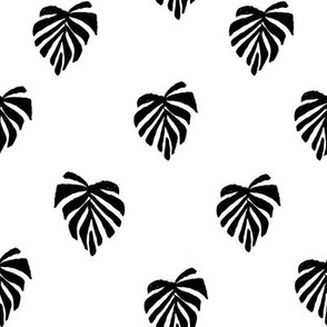 leaf // leaves tropical monstera plant palm springs vacation black white