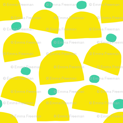 Yellow and Teal Winter Hats