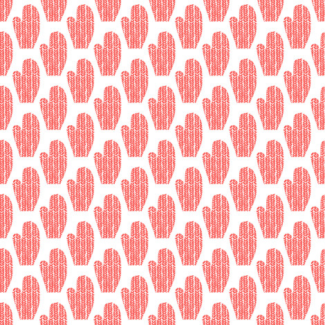 Orange and White Mittens fabric by emmafreemandesigns on Spoonflower - custom fabric