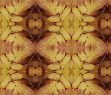 Symmagery Fall Royal Fern fabric by tara_symmagery on Spoonflower - custom fabric