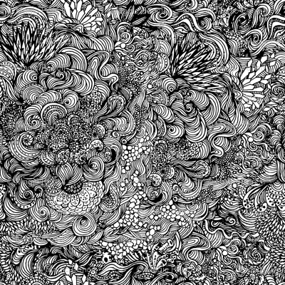 Coloring underwater world in black and white