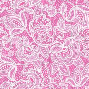 lace // pink maui dark pink