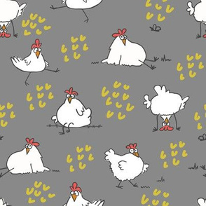 chickens grey