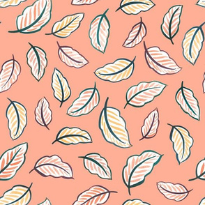 Leaf Toss (Blush Pink)