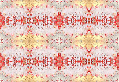 gold & coral fabric by floraryfabrics on Spoonflower - custom fabric