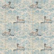 lying greyhound, blue