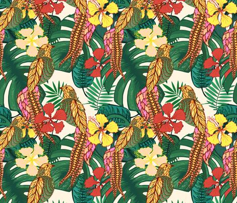 TropicBirds fabric by polanika on Spoonflower - custom fabric